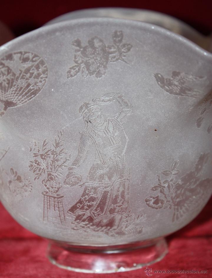 Antigüedades: SENSACIONAL TULIPA EN CRISTAL GLASEADO Y DECORACIONES ORIENTALES. CIRCA 1900 - Foto 8 - 45374906