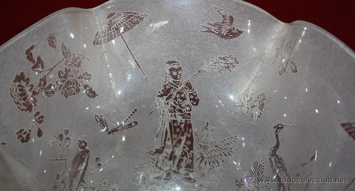 Antigüedades: SENSACIONAL TULIPA EN CRISTAL GLASEADO Y DECORACIONES ORIENTALES. CIRCA 1900 - Foto 10 - 45374906