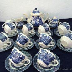 Antigüedades: JUEGO DE CAFE SEMIPORCELANA INGLESA SELLADO. Lote 45388647