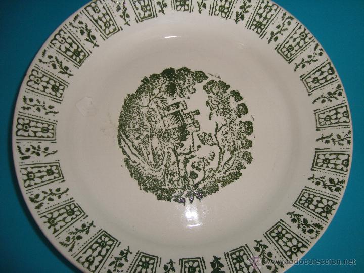 Antigüedades: PLATO PICKMAN S. A. LA CARTUJA SEVILLA 1900 a 1965, 21,5CM. - Foto 2 - 45404277