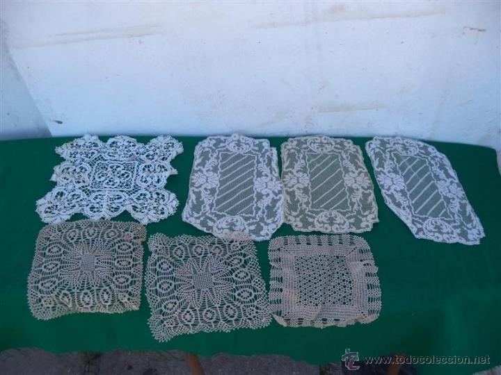 6 TOPETES DE MESAS HECHO A MANO (Antigüedades - Hogar y Decoración - Tapetes Antiguos)