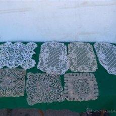 Antigüedades: 6 TOPETES DE MESAS HECHO A MANO. Lote 45406047