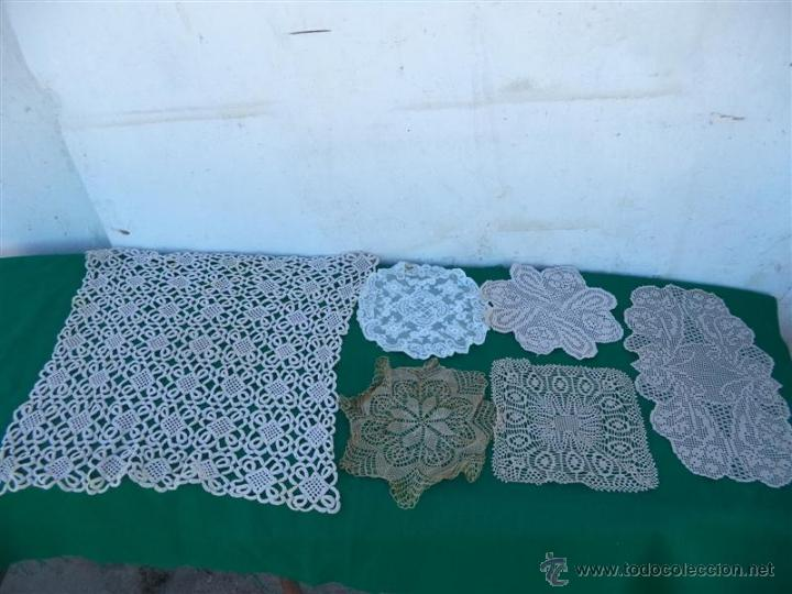 6 TOPETES DE MESA (Antigüedades - Hogar y Decoración - Tapetes Antiguos)