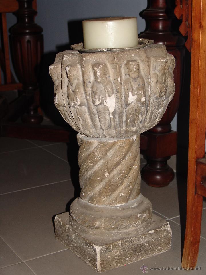 ANTIGUO MACETERO DE PIEDRA (Antigüedades - Hogar y Decoración - Maceteros Antiguos)