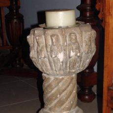 Antigüedades: ANTIGUO MACETERO DE PIEDRA. Lote 45410101