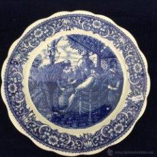 Antigüedades: ANTIGUO PLATO GRANDE PARA COLGAR DELFT. Lote 45454525