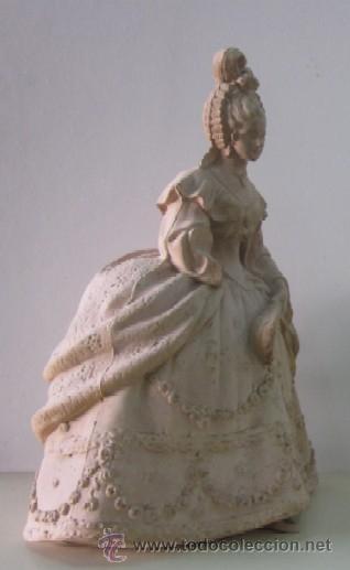 Antigüedades: FIGURA DAMA - EPOCA Y ESTILO MODERNISTA - Foto 2 - 45455833