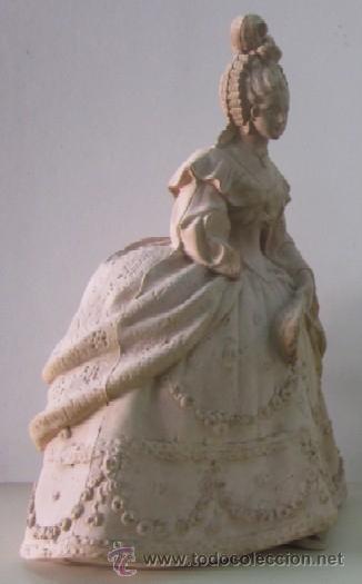 Antigüedades: FIGURA DAMA - EPOCA Y ESTILO MODERNISTA - Foto 4 - 45455833