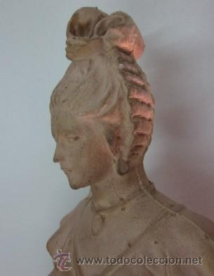 Antigüedades: FIGURA DAMA - EPOCA Y ESTILO MODERNISTA - Foto 5 - 45455833