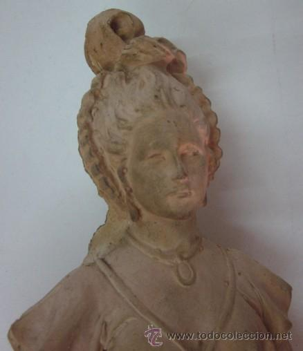 Antigüedades: FIGURA DAMA - EPOCA Y ESTILO MODERNISTA - Foto 6 - 45455833