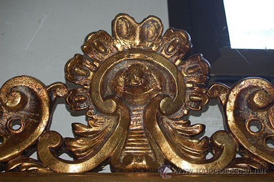 Antigüedades: Espejo Isabelino de madera dorada, siglo XIX Medidas espejo: 74x110 - Foto 3 - 45461178