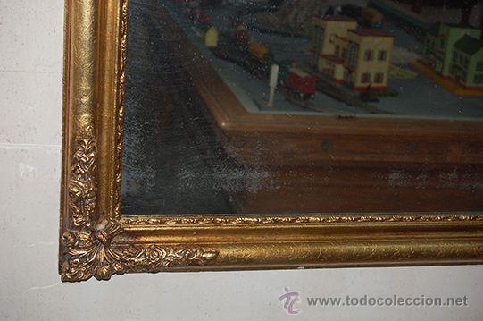 Antigüedades: Espejo Isabelino de madera dorada, siglo XIX Medidas espejo: 74x110 - Foto 6 - 45461178