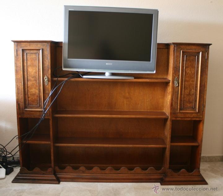 mueble para television en madera de nogal y rai - Comprar Muebles ...