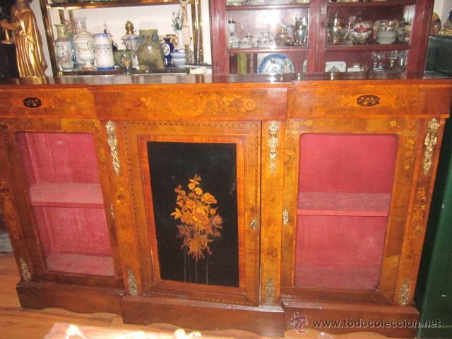 La Credenza Muebles : Antiguo mueble aparador credenza con vitrinas kaufen antike