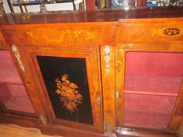 La Credenza Muebles : Antiguo mueble aparador credenza con 2 vitrinas kaufen antike