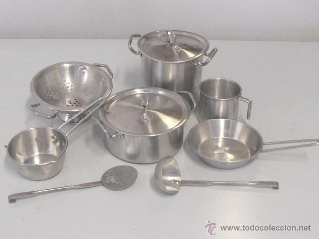 Conjunto de 2 utensilios de cocina en miniatura comprar for Utensilios de cocina de aluminio