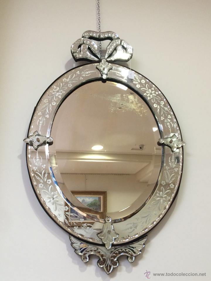 Impresionante espejo veneciano antiguo vendido en venta - Espejo veneciano antiguo ...
