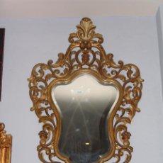 Antigüedades: MUY BONITA CORNUCOPIA DE MADERA EN ORO FINO. Lote 45481464
