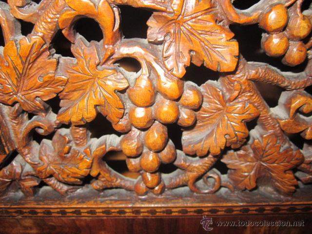 Antigüedades: Mueble escritorio Davenport S. XIX en madera raíz de olivo con cajones laterales, secante y tintero - Foto 3 - 45485876