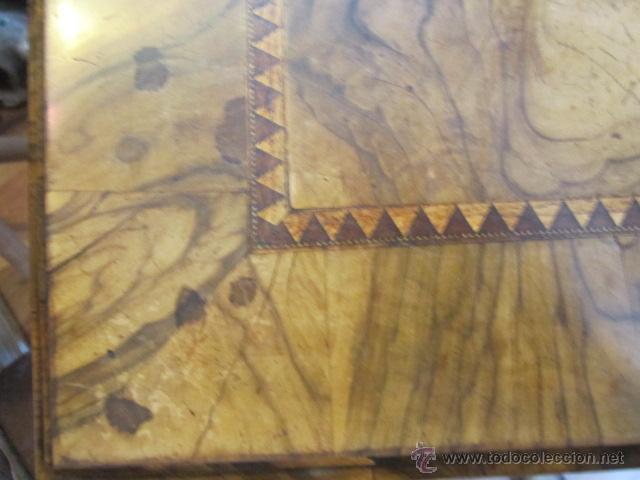 Antigüedades: Mueble escritorio Davenport S. XIX en madera raíz de olivo con cajones laterales, secante y tintero - Foto 5 - 45485876