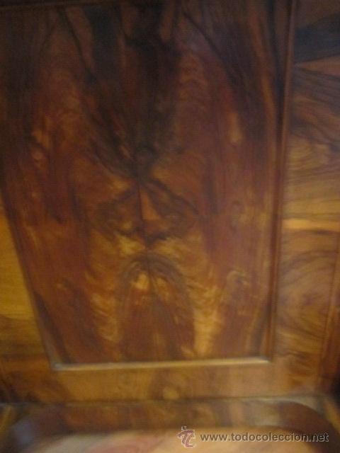 Antigüedades: Mueble escritorio Davenport S. XIX en madera raíz de olivo con cajones laterales, secante y tintero - Foto 9 - 45485876