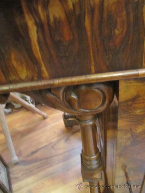 Antigüedades: Mueble escritorio Davenport S. XIX en madera raíz de olivo con cajones laterales, secante y tintero - Foto 13 - 45485876