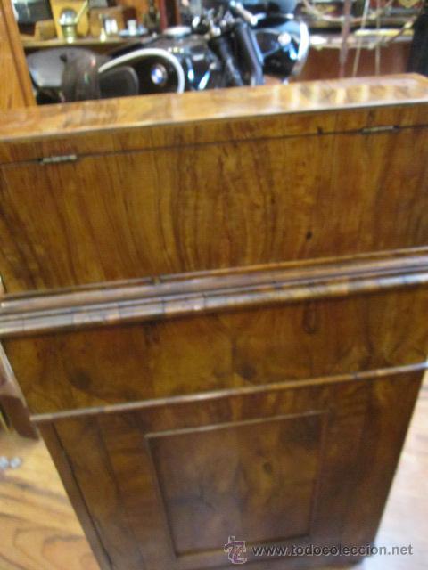 Antigüedades: Mueble escritorio Davenport S. XIX en madera raíz de olivo con cajones laterales, secante y tintero - Foto 21 - 45485876