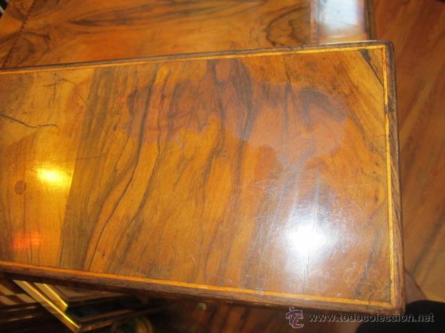 Antigüedades: Mueble escritorio Davenport S. XIX en madera raíz de olivo con cajones laterales, secante y tintero - Foto 23 - 45485876