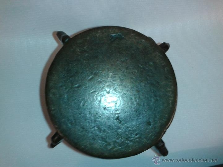 Antigüedades: Almirez Mortero bronce con su maza. Siglo XVII. - Foto 11 - 45487117
