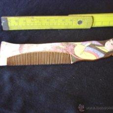 Antiquitäten - Antiguo peine de madera con figura femenina pintada a mano - 45489514