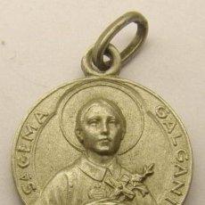 Antigüedades: ANTIGUO ESCAPULARIO DE SANTA GEMA Y SAN GABRIEL EN PLATA DE LEY - 16MM. Lote 45496403