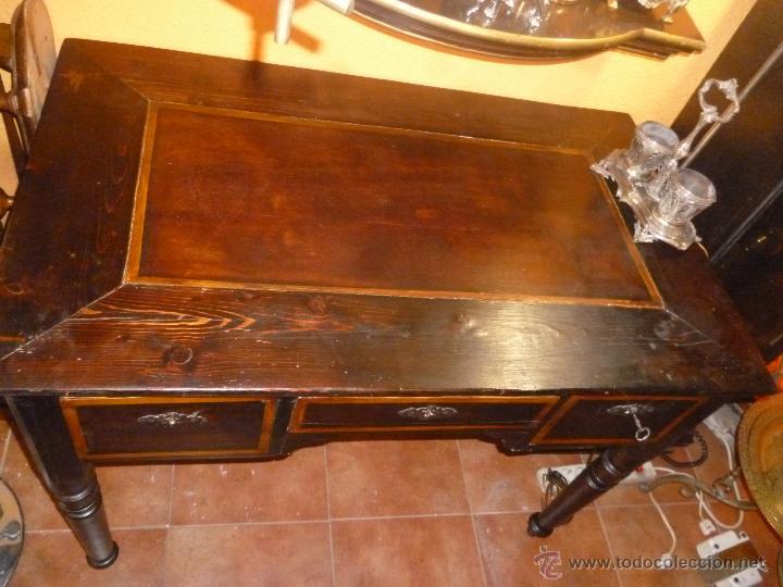 Antigüedades: MESA ESCRITORIO ANTIGUA - Foto 2 - 45497183
