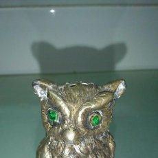 Antigüedades: SALERO CON FIGURA DE BÚHO. Lote 45505593