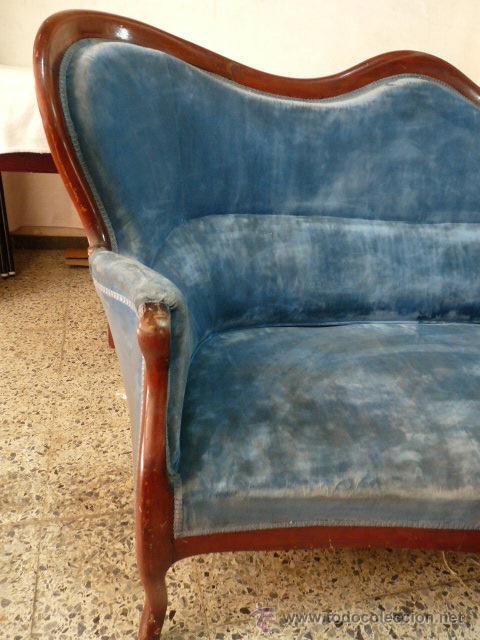 Antigüedades: antiguo tresillo isabelino.muy antiguo.3 piezas.envio gratuito cataluña. - Foto 3 - 45506643