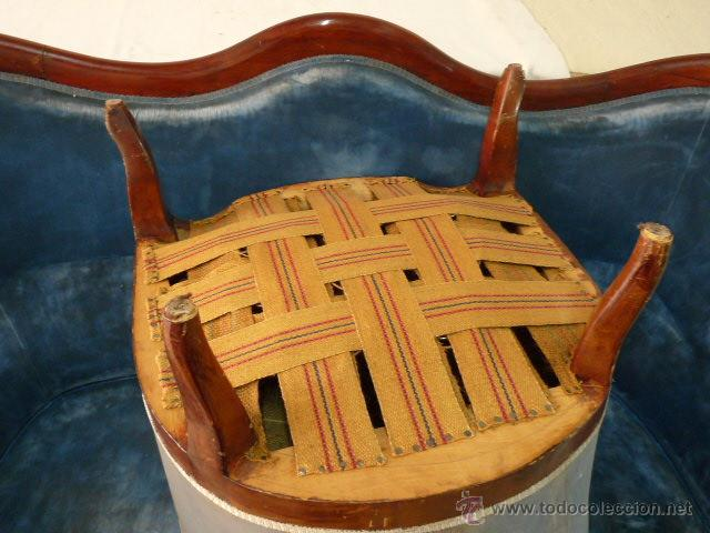 Antigüedades: antiguo tresillo isabelino.muy antiguo.3 piezas.envio gratuito cataluña. - Foto 4 - 45506643