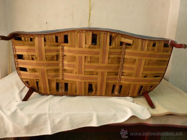 Antigüedades: antiguo tresillo isabelino.muy antiguo.3 piezas.envio gratuito cataluña. - Foto 5 - 45506643