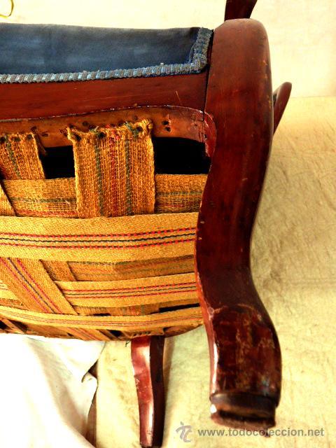Antigüedades: antiguo tresillo isabelino.muy antiguo.3 piezas.envio gratuito cataluña. - Foto 6 - 45506643