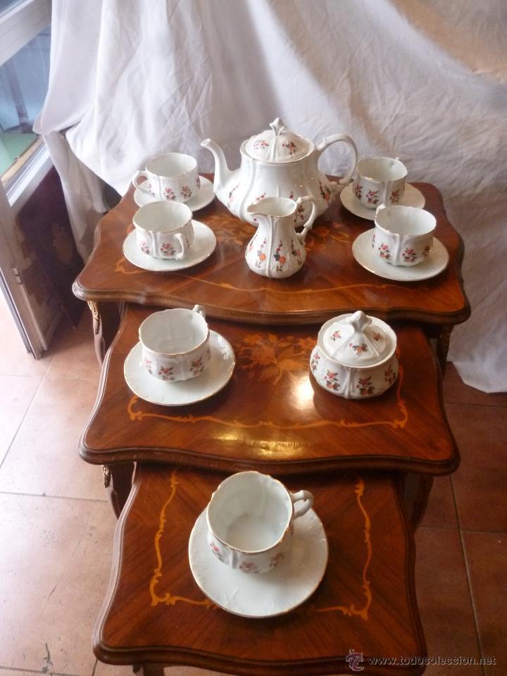 JUEGO DE TÉ PORCELANA (Antigüedades - Porcelanas y Cerámicas - Otras)