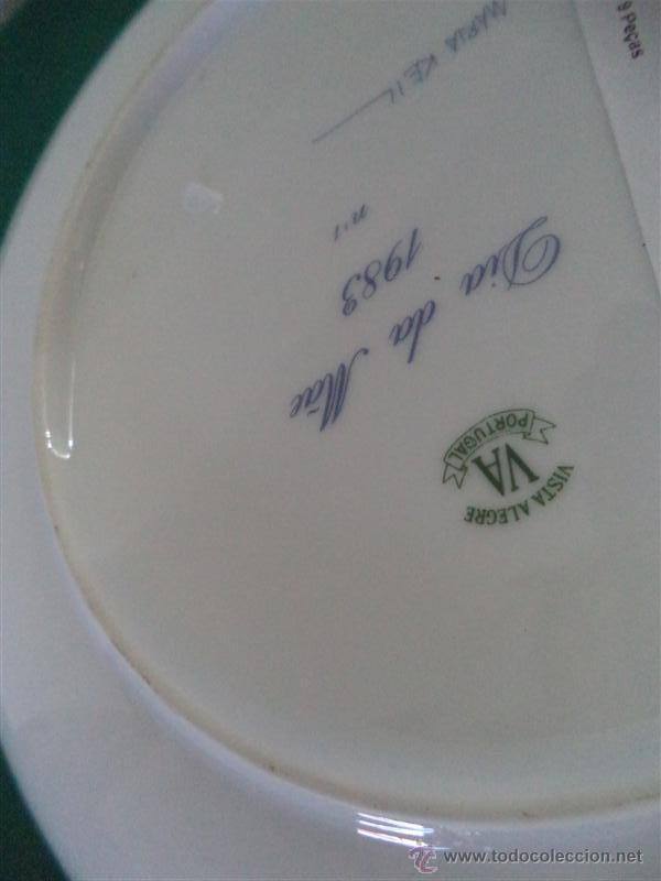 Antigüedades: plato de porcdelana vistaalegre - Foto 2 - 45511541
