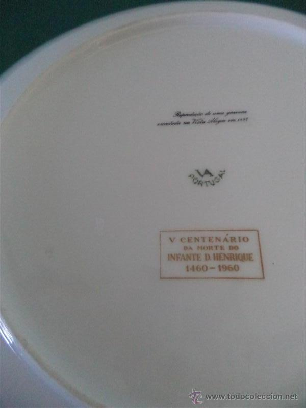 Antigüedades: plato de porcelana vistaalegre - Foto 2 - 45511667