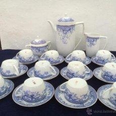 Antigüedades: JUEGO ANTIGUO DE CAFE EN PORCELANA DE BAVARIA SELLADO. Lote 54810280