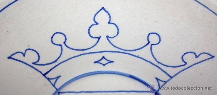 Antigüedades: PLATO DE TALAVERA O TOLEDO ?? DEL SIGLO XIX - Foto 2 - 45523977