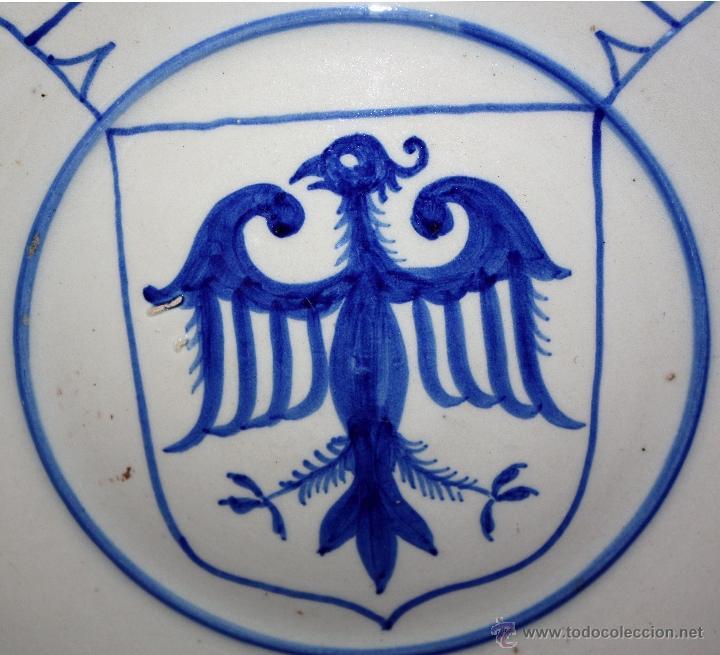 Antigüedades: PLATO DE TALAVERA O TOLEDO ?? DEL SIGLO XIX - Foto 3 - 45523977