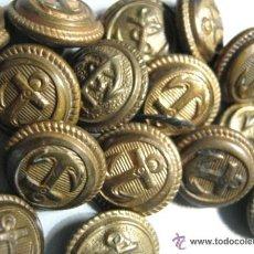 Antigüedades: LOTE 40 PIEZAS BOTONES ANTIGUOS PEQUEÑOS ARMADA MARINA VARIOS. Lote 45537149