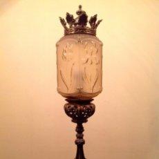 Antigüedades: ANTIGUA GRAN LÁMPARA DE IGLESIA MUY BONITA Y ORIGINAL MEDIDAS 78X17CM. Lote 45542402