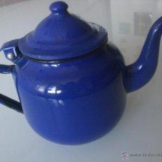 Antigüedades: CAFETERA PORCELANA ESMALTADA-ANTIGUA-. Lote 45557153