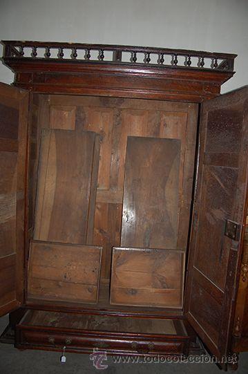 Antigüedades: Armario del Barroco Carlos III de nogal, siglo XVIII - Foto 5 - 45574497