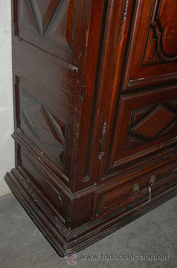 Antigüedades: Armario del Barroco Carlos III de nogal, siglo XVIII - Foto 6 - 45574497