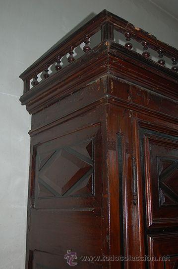 Antigüedades: Armario del Barroco Carlos III de nogal, siglo XVIII - Foto 8 - 45574497