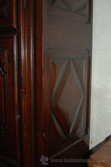 Antigüedades: Armario del Barroco Carlos III de nogal, siglo XVIII - Foto 10 - 45574497